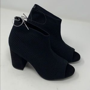 SEVEN DIALS stretchy Booties Chunky Heels 5.5